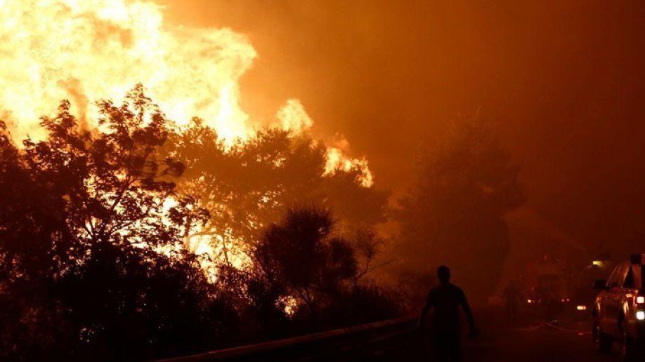 Φωτιά στη Γορτυνία: Στα δέκα χιλιόμετρα εκτείνεται το πύρινο μέτωπο - Κάηκαν σπίτια στο Πυρρί