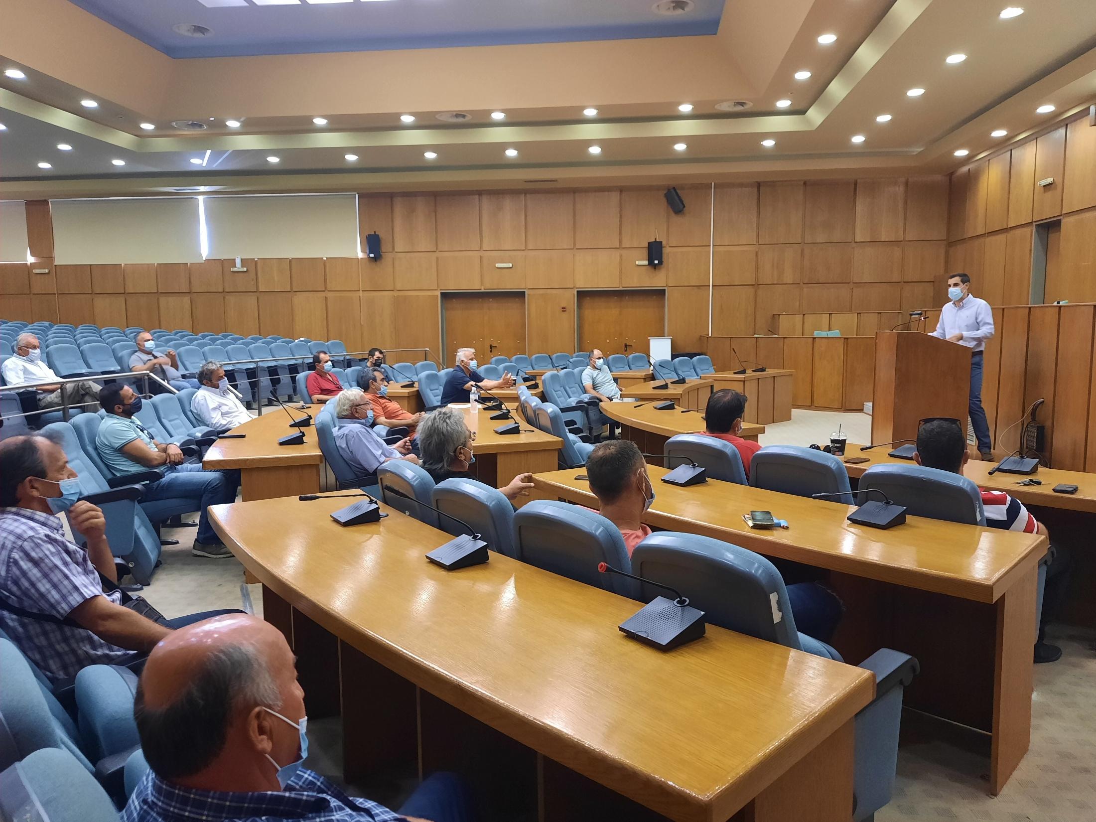 Συνάντηση Αντιπεριφερειάρχη Π.Ε Ηλείας Β. Γιαννόπουλου,  με προέδρους πυρόπληκτων Τοπικών Κοινοτήτων