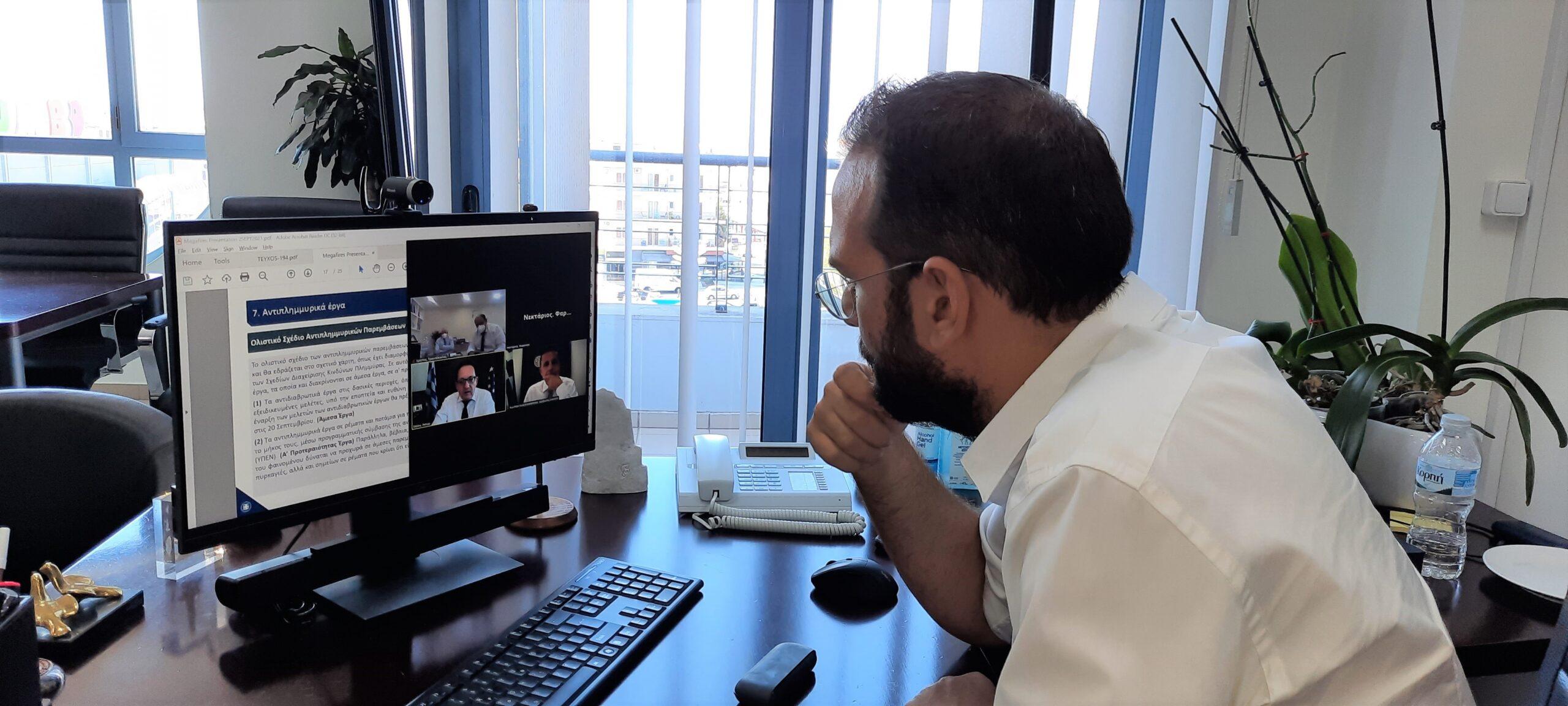 ΠΔΕ: Σύσκεψη συντονισμού για τα αντιδιαβρωτικά και αντιπλημμυρικά έργα του Περιφερειάρχη Ν. Φαρμάκη με κυβερνητικά στελέχη (photos)